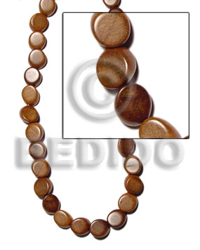 Bayong slice melon 13mmx18mmx8mm Wood Beads