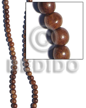 robles round wood beads 4-5mm - Wood Beads