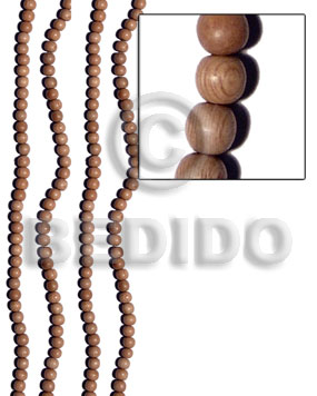 6mm round rosewood beads - Wood Beads