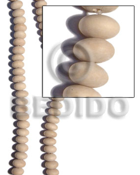 Natural white wood mentos 8mmx14mm Wood Beads