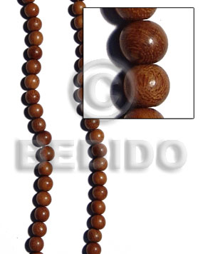 bayong round wood beads 6mm - Wood Beads