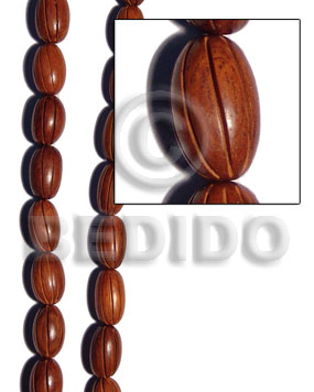 bayong oval  groove 17mmx27mm - Wood Beads