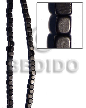 black camagong dice 12mmx12mm - Wood Beads