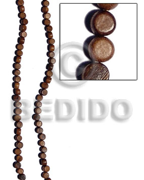 robles flat round  7mmx5mm - Wood Beads