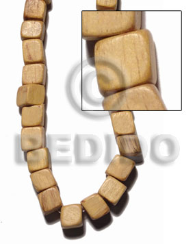 """nangka"" slide cube 12mmx12mm Wood Beads"