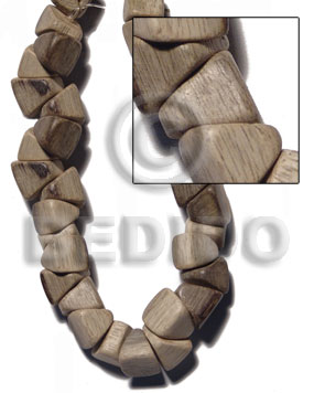 """greywood"" barrel double slidecut 11mm Wood Beads"