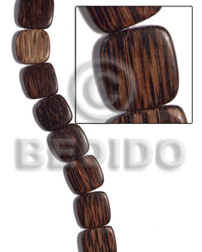 hand made 16mmx16mmx5mm patikan face to face Wood Beads