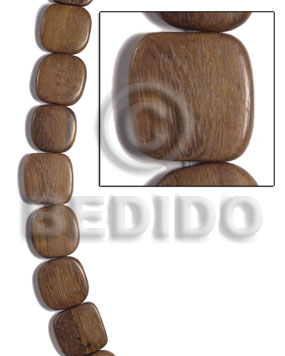 25mmx25mmx5mm robles square rounded Wood Beads