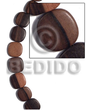 25mmx25mmx5mm camagong tiger ebony hardwood Wood Beads