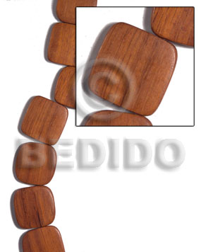 25mmx25mmx5mm bayong face to face Wood Beads