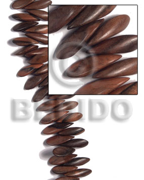 30mmx8mmx11mm petals camagong tiger ebony Wood Beads