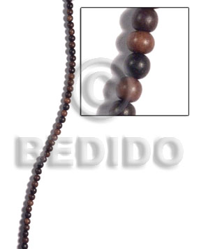 5mm camagong tiger ebony hardwood round beads - Wood Beads