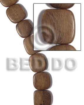 35mmx35mmx5mm robles square  rounded edges / 12pcs - Wood Beads