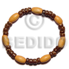 Elastic Wood And Coco Bracelet