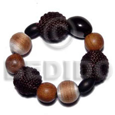 Elastic Bracelet Wrapped Wood