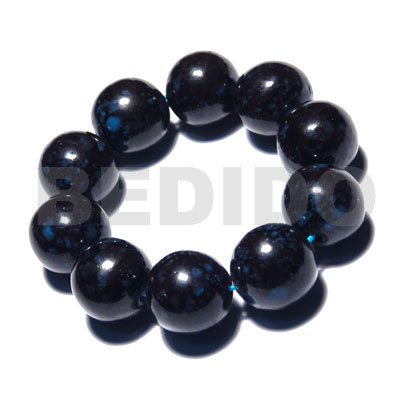 10 pcs. of 20mm round Wood Bracelets