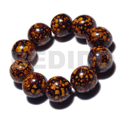 hand made 10 pcs. of 20mm round Wood Bracelets