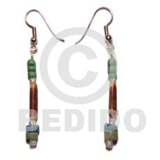 Dangling sig-id 2-3mm coco Wood Earrings