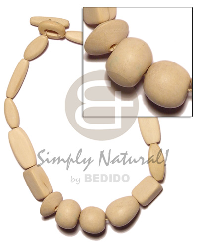 Natural wood beads necklace Wood Necklace