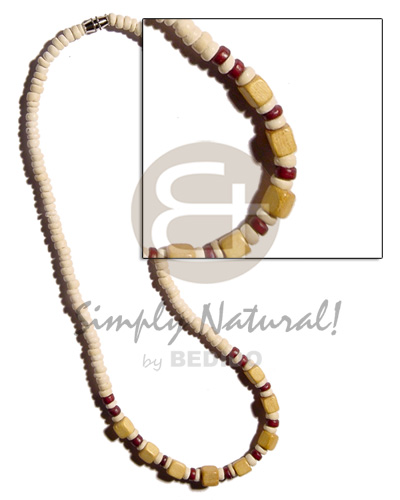 4-5mm coco pokalet. bleach Wood Necklace