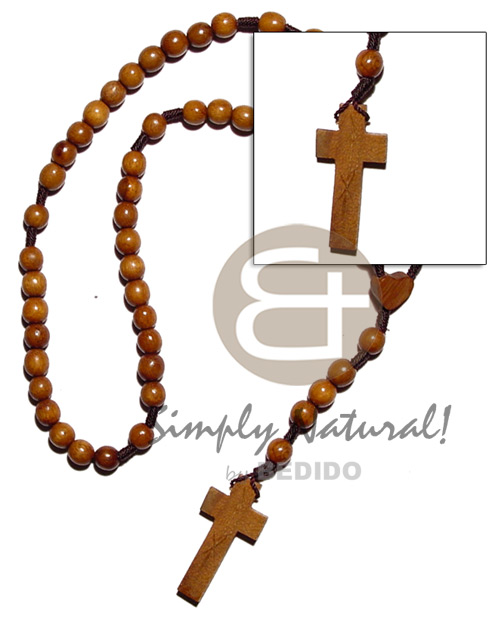 Bayong rosary wood beads Wood Necklace