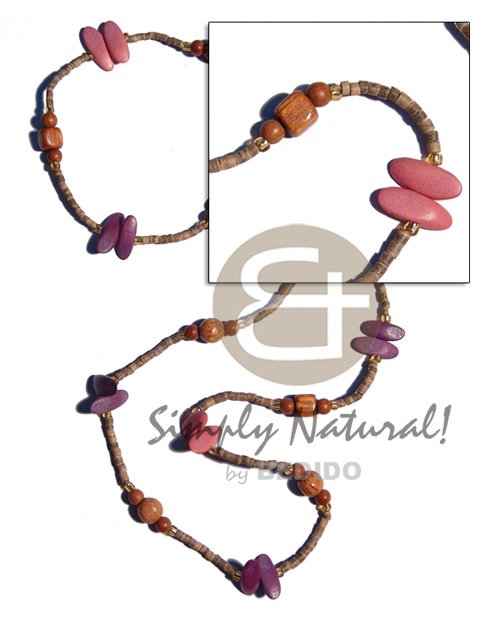 """kalandrakas""- asstd. wood beads per Wood Necklace"