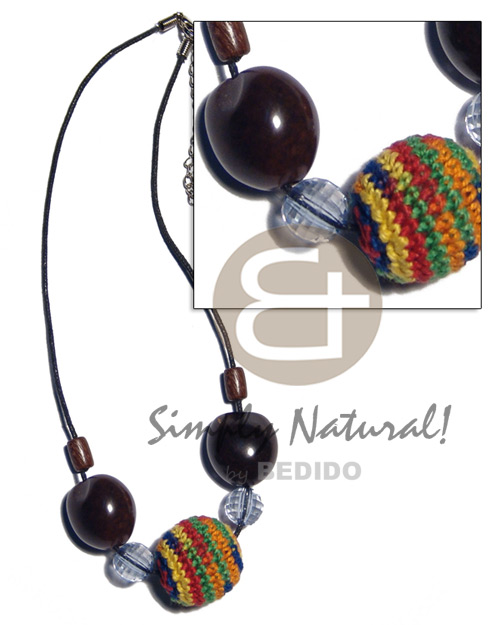 20mm round wood beads in Wood Necklace