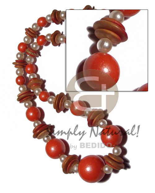 Graduated wood beads 25mm 20mm 15mm 10mm in Wood Necklace