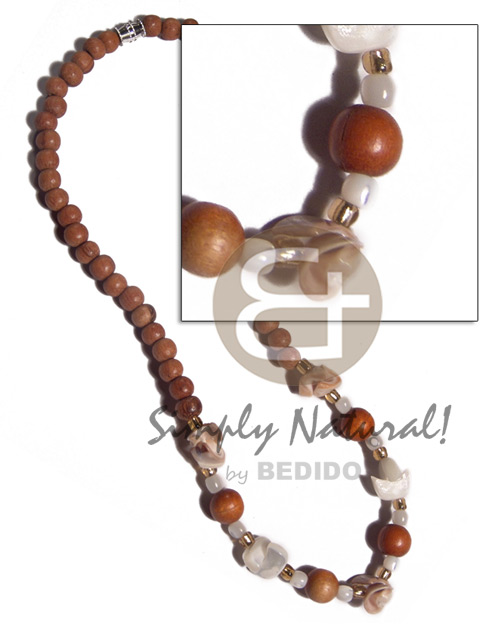 6mm 8mm bayong wood beads Wood Necklace