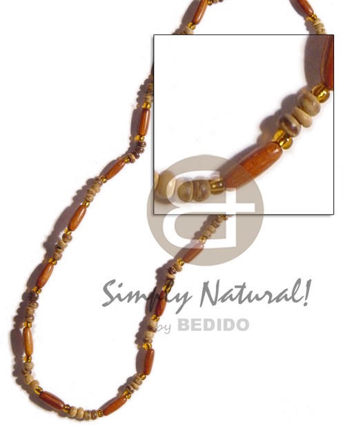 Bayong ricebeads 2-3 coco Wood Necklace