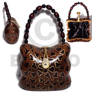 Collectible handcarved laminated acacia wood Wooden Acacia Bags