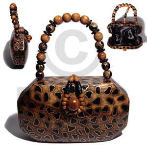 Collectible handcarved laminated acacia Wooden Acacia Bags