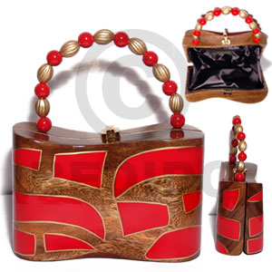 hand made Collectible handcarved laminated acacia Wooden Acacia Bags