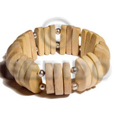 Natural wood elastic bangle Wooden Bangles