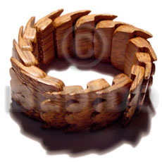 Palmwood heart elastic bangle Wooden Bangles