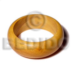 Nangka rounded wood bangle Wooden Bangles