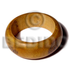 hand made Robles rounded wood bangle Wooden Bangles
