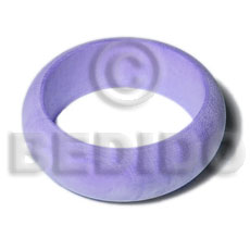 Natural white wood in lilac Wooden Bangles