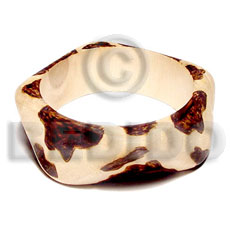 ambabawod  bangle  wood burning   clear coat finish/  65mm inner diameter - Wooden Bangles