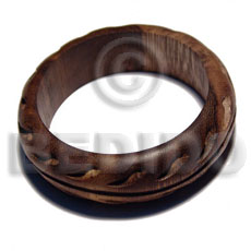 Robles rounded wood Wooden Bangles