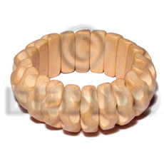 elastic ambabawod curly grooved wood  bangle   clear coat finish/ ht= 1 inch/ thickness= 15mm - Wooden Bangles
