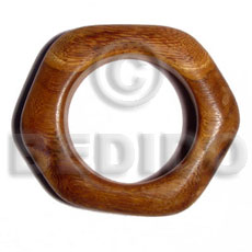 Bayong Chunky Irregular Wood Bangle