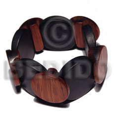hand made Elastic overlapping round wood bangle Wooden Bangles