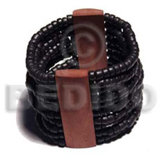 Elastic 10 rows 4-5mm coco Wooden Bangles