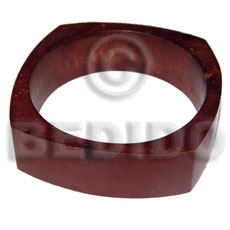 h=22mm thickness=10mm diameter=65mm nat. wood bangle in matte reddish brown tone - Wooden Bangles