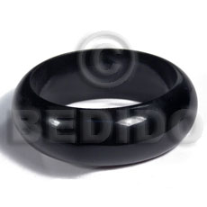 Black stained high gloss coat Wooden Bangles