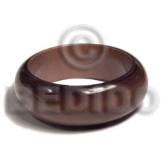 grained,stained, glazed and matte coated high quality nat. wood bangle / wood tones / ht= 27mm / 65mm inner diameter / 10mm  thickness / burned edges - Wooden Bangles