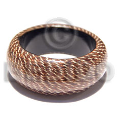 chunky wooden bangle  laminated jute  / inner diameter = 65mm / ht=35mm / thickness=15mm - Wooden Bangles