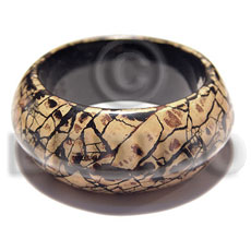 Chunky laminated crackled wooden bangle Wooden Bangles