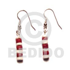 Dangling maroon 4-5 coco pokalet Wooden Earrings